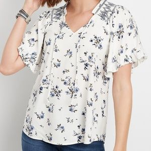 MAURICES WHITE TOP L